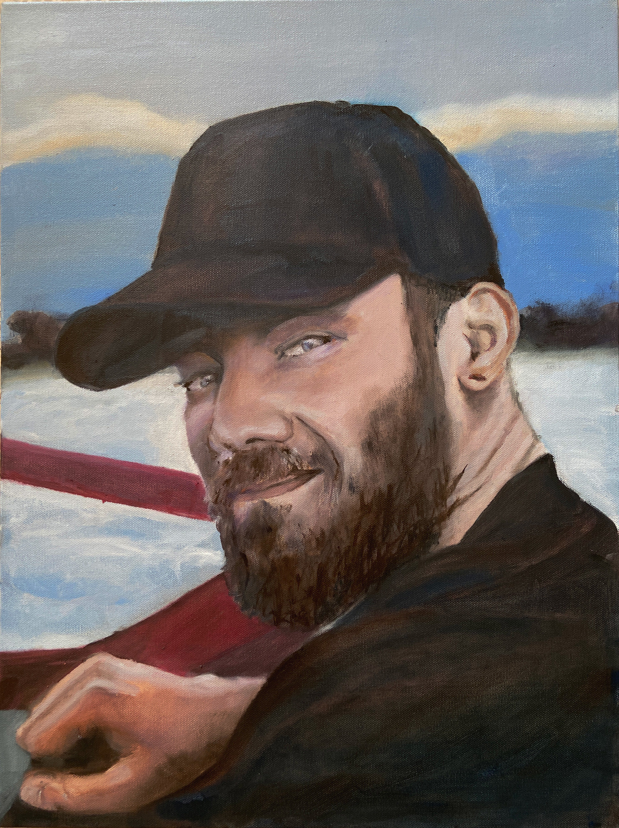 "In loving memory of Shane Swenson, 18x24"" oil on canvas. April 2020"